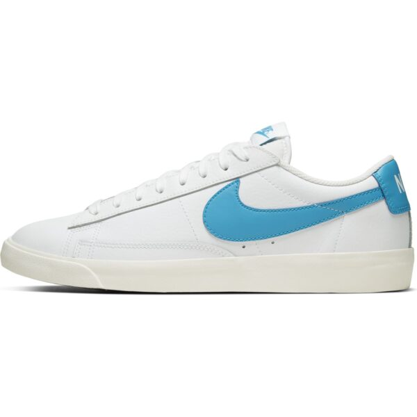 NIKE BLAZER LOW LEATHER WHITE/LSRBLU