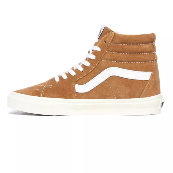 VANS UA SK8-HI (PIG SUEDE) Brown sugar/Snow white