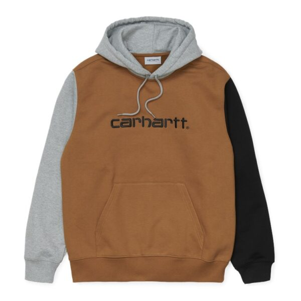 CARHARTT WIP HOODED TRICOL SWEAT HAMILTON BROWN