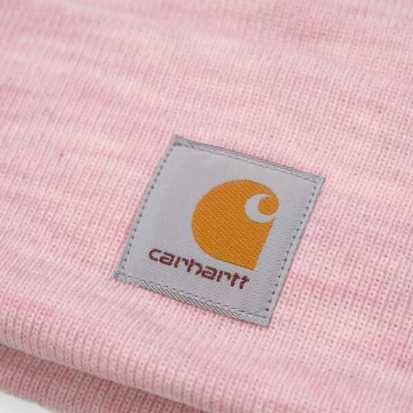 CARHARTT WIP ACRYLIC WATCH HAT FROSTED PINK HEATH