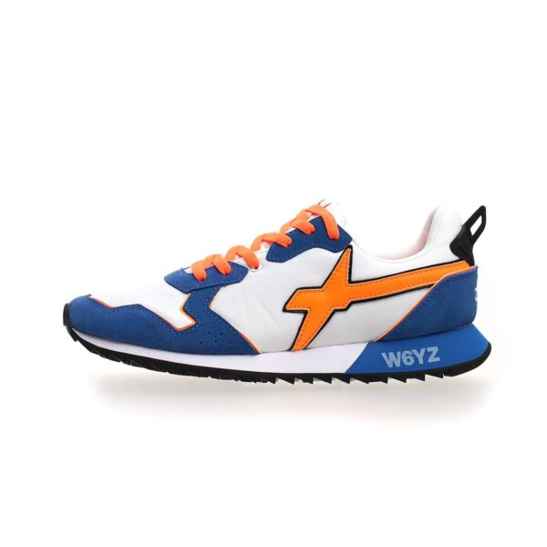 W6YZ JET-M SUEDE/NYLON AZURE-WHITE-FLUÓ ORANGE