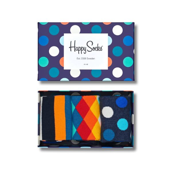 HAPPY SOCKS CLASSIC MULTI-COLOR SOCKS GIFT 41-46