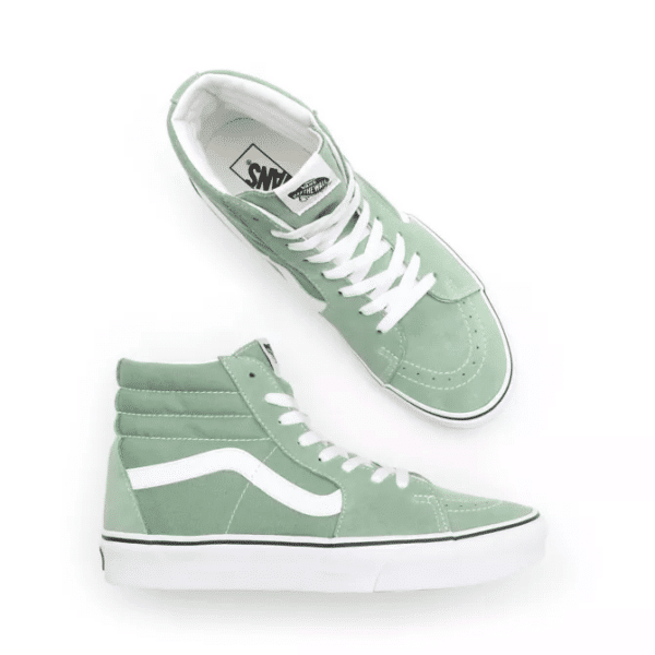 VANS UA SK8-HI SHALE GREEN/TRUE WHITE