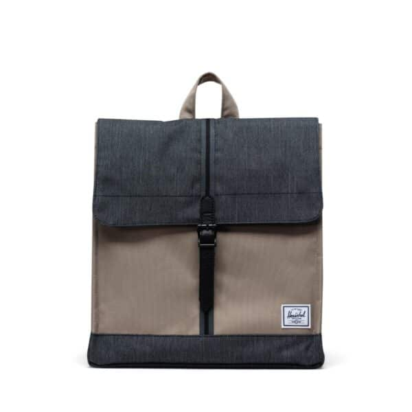 HERSCHEL CITY MID-VOLUME TIMBERWOLF/BLACK DENIM