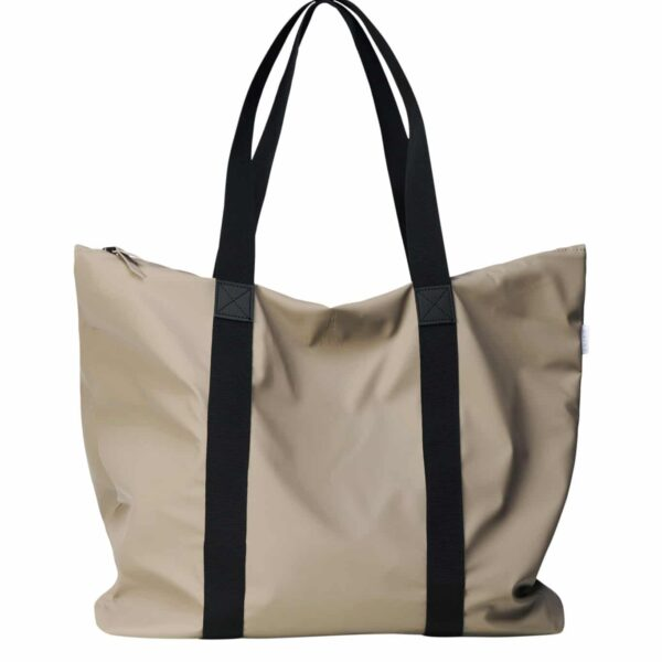 RAINS TOTE BAG TAUPE