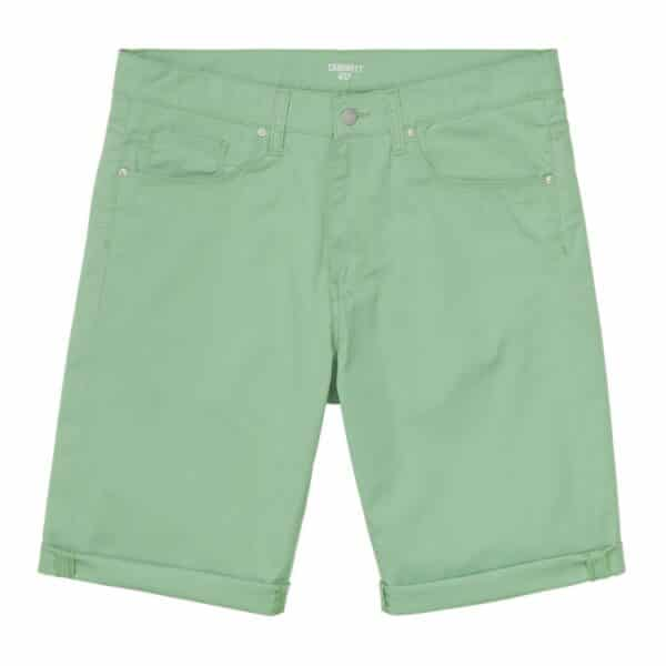 CARHARTT WIP SWELL SHORT MINERAL GREEN RINSED