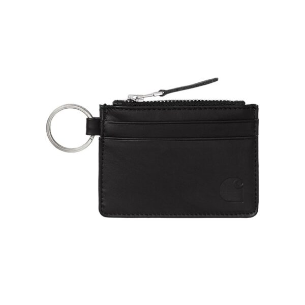 CARHARTT WIP WALLET WITH M RING LEATHER BLACK