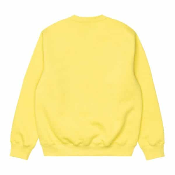 CARHARTT WIP W SWEAT LIMONCELLO/BLACK